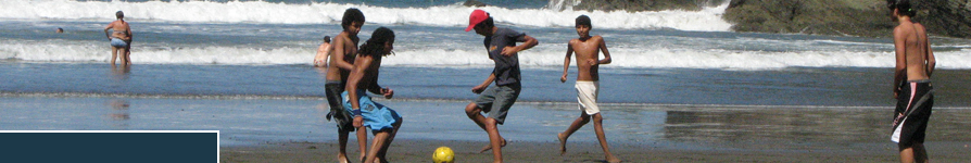 Playing Soccer at a Costa Rican Beach